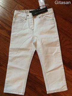 New Little Marc Jacobs White Logo Jeans Pants Sale $92 Size 4 5