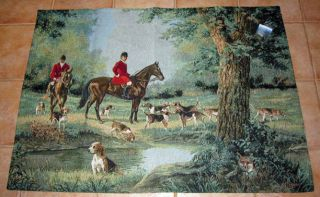 Fox Hunt Which Way Did He Go Grande Tapestry Wall Hanging Linda Picken