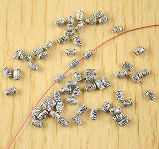 700pcs Tibetan Silver Little Tube Spacer Beads H2663