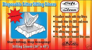 Sift Clean Sifting Sifter Cat Litter Box Pan Liners 3mo