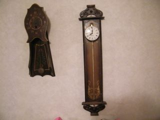 LOOK! Antique ANNO 1750 Linden Gravity Fed Saw Blade Wall Clock RARE