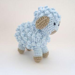 Amigurumi Little Blue Sheep Lamb Handmade Crocheted Soft Toy