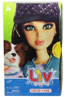 Liv Doll Katie and Border Collie Pet Dog Sk8 New by Spin Master