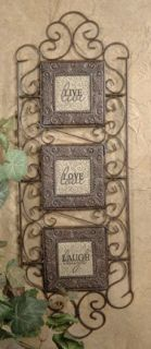Live Laugh Love Fleur de Lis Wall Plaque