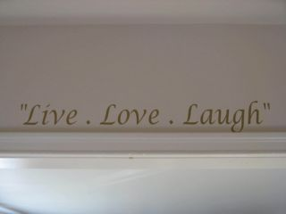Art Quotes Vinyl Live Love Laugh Decals Stickers Home Decor