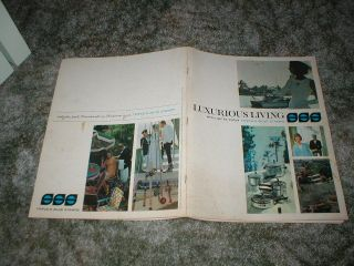 1964 LUXURIOUS LIVING Triple S Blue Stamps Gift Catalog Toys