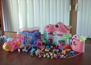LITTLEST PET SHOP Lot STARTER COLLECTOR Pets Pet Shop Playhouse