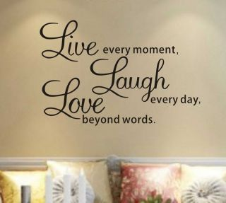Removable Stickers Decors Vinyl Art Live Laugh Love Small
