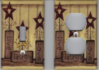 Country Live Love Laugh Home Decor Outlet and Light Switch Plate
