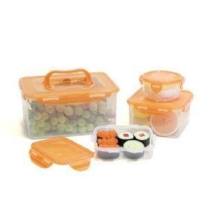 Lock & Lock BPA Free 8 Pc Picnic Lunch Box Food Storage Containers
