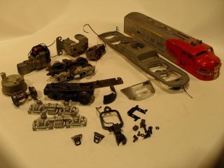 Lionel Original Postwar 2343 P Santa FE Engine Parts Lot