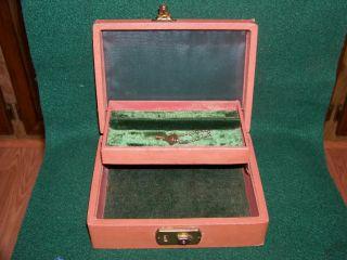 Vintage Locking Trinket Jewelry Box w Key