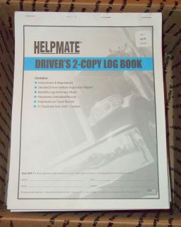 LOT OF 20 DRIVERS 2 COPY LOG BOOKS WITH VEHICLE INSPECTION REPORTS