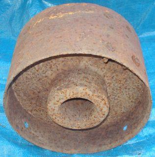 BH766 Antique Vtg Hit Miss Line Shaft Flat Belt Pulley Wheel Cast Iron