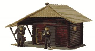 Model Power HO Scale Hunters Log Cabin BLT Up 640