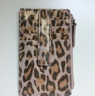 Lodis Leopard Print ID Credit Card Coin Holder