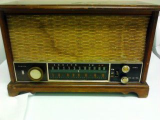 ANTIQUE ZENITH LONG DISTANCE TUBE RADIO AM FM S 58040 MODEL K731