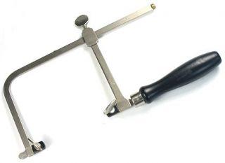 Saw Frame Adjustable Metal Wooden Handle Jewelerstool