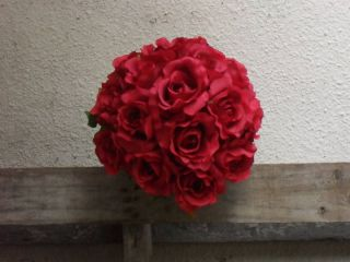 Candy Apple Red Roses Wedding Flowers Bouquets