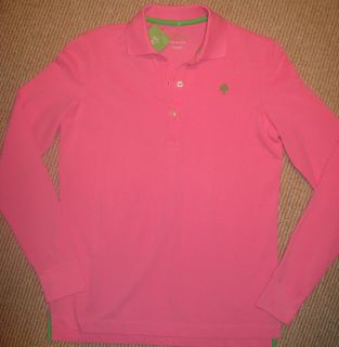 LILLY PULITZER Womens Long Sleeve Polo top  XS   NWT   Pink
