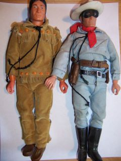Lone Ranger and Tonto Action Figures 1973 Vintage Western L36