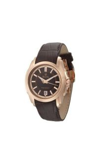 Bulova Mens Precisionist Longwood Rose Gold Brown Dial Watch 97B110