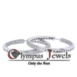 45ct 14k White Gold Custom Diamond Loop Earrings