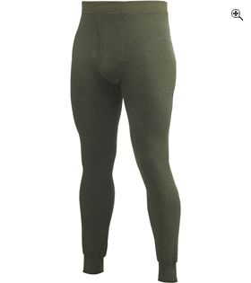 Woolpower Long Johns with Fly 200 Green Merino Wool Extra Large