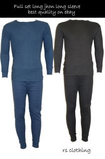 Mens Thermal Long Johns Underwear Vest Full Set All Colour Combined