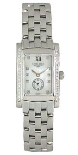 Longines Dolce Vita Steel & Diamond Womens Watch White Mother of Pearl
