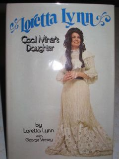 Loretta Lynn Coal Miners Daughter Autographed HB Book