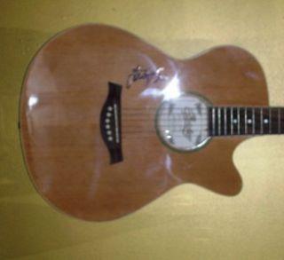 Loretta Lynn Autograph Signed Copley Acoustic Natural Guitar COA