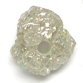 Carat White Silver Loose Natural Rough Diamond Beads
