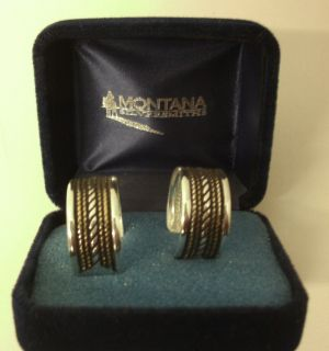 Montana Silversmith Loop Earrings Silver and Gold Color