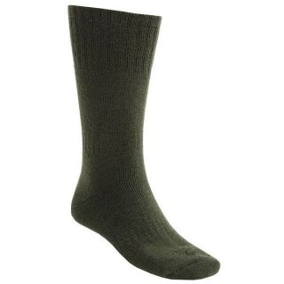 Pair Lorpen 40% Italian Merino Wool Hunting Socks Medium Green 2nds