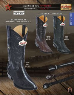 Los Altos R Toe Stingray Hornback D Width Mens Cowboy Boot Diff