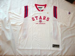 Mens Throwback 1968 ABA Los Angeles Stars Warm Up Jersey 3X NWT