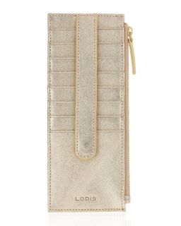 Lodis Credit Card Wallet Case Gold