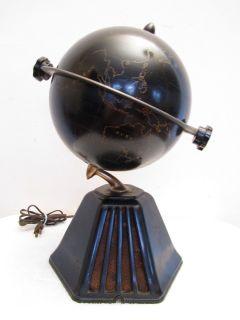 VINTAGE 1933 RAYMOND LOEWY OLD COLONIAL GLOBE ART DECO BLACK BAKELITE