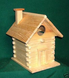 Log Cabin Bird House Kits for Children and Adults