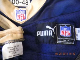 St. Louis Rams Vintage Puma Ripon Berlin WI Game Worn Issued Used