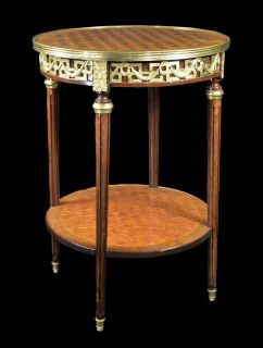 Bronze French Table Ormolu Louis IV Vintage French Ornate