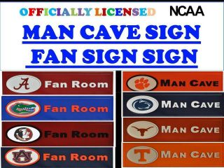 College Man Cave Sign NCAA Man Cave Sign NCAA Logo Man Cave Sign NCAA