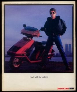 1985 Honda Elite Scooter Lou Reed NYC Skyline WTC World Trade Center