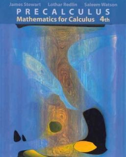 Mathematics for Calculus by Lothar Redlin James Stewart And