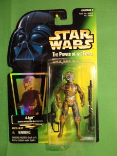 Star Wars Kenner 4 Lom Action Figure Carded New
