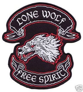 Lone Wolf – Free Spirit Biker Patch RARE