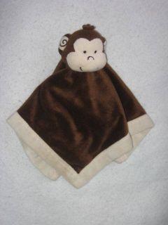 Security Blanket Baby Lovey Lovie Brown Cream Ivory Blankie