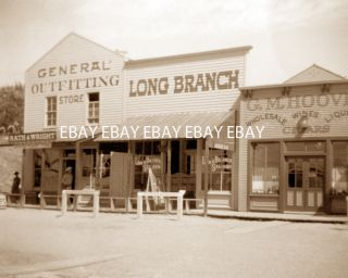THE LONG BRANCH COWBOY SALOON BAR CIGAR STORE SHOP DODGE CITY KANSAS