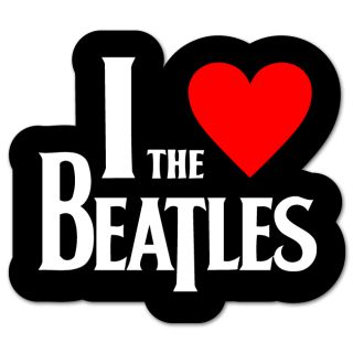 The Beatles I Love Beatles Sticker Decal 4 x 4